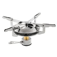bbq cookout - Portable Steel Gas Butane Propane Burner Camping Backpacking Picnic Stove Case BBQ Cookware Cookout Silver With Bag