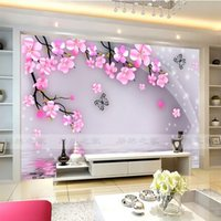 art cherry blossoms - Cherry Blossom and Butterfly Wall Mural Wall Stickers Large View Photo Wallpaper Art Mural Decal Room Background wall Bedroom Kids Rooms