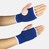 Wholesale Sports Elastic Breathable Hand Wrist Wrap Stretchy Wrist Joint Brace Palm Support Band Sleeve Gloves Guard Gym Bandage Protector