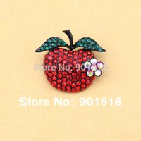 Wholesale 2pcs Fashion jewelry women brooches apple brooches mm