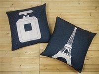 Tour Eiffel et bouteille de parfum Home Decor coussin oreiller en coton lin canapé coussins décoratifs Coussin