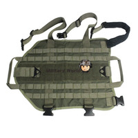 airsoft ranger - Airsoft Military Army Dog Vest Clothes Load Bearing Hunting Tactical D Nylon Dog Training Molle Adjustable Vest Ranger Green order lt no