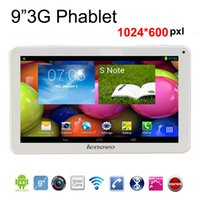 Wholesale 9 quot G Quad Core Phablet Android GB GB Dual Camera WCDMA G Bluetooth WiFi GPS FM Tablet PC