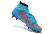 Wholesale 2014 Newest Magista Obra High Cut Soccer Football Boots Shoes Cleats Cristiano Ronaldo CR7 Hyper Turq White Laser Orange all sizes