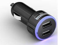 Precio de La iluminación universal,-Cargador universal dual del coche del puerto 5V 2.1A del USB, iluminación del LED Protección elegante del cortocircuito del fusible