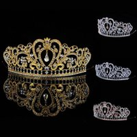 ab crystal tiaras - 2015 New Arrival Luxuious AB color Crystal Bridal Tiaras Fashion Princess Crown Silver Wedding Crown Hair Accessories