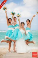 Wholesale 2015 Beach Chiffon Knee Length Bridesmaid Dresses Cheap Sweetheart Neckline Sleeveless Bridesmaid Gowns Plus Size Short Party Dress