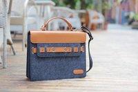 Wholesale Men Business Handbag Detachable Shoulder Strap Messenger Briefcases Bags for Laptop Tablet PC iPad