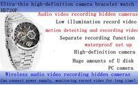 Wholesale Security Monitoring Equipment Wireless Audio Video Recording Watches Waterproof Cameras HD PC Watch Bracelet Hidden Camera