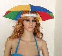 Wholesale Super Light Fishing Sun visors Umbrella Hats outdoor caps Beach umbrellas without stick many desings mixsale