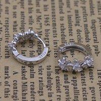 Wholesale Accessories Luxury New Flower Earrings Gifts for Women Jewelry White Crystal Earring Sterling Silver Fashion K Cubic Zircon Jewel