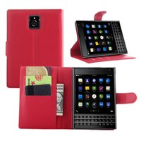 bb holders - Litchi Skin Flip Wallet Soft Leather Case Stand Holder Hard Cover Card Slots Cases For Blackberry Classic Q20 PASSPORT Q30 BB Z3