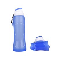 Wholesale Silicone Foldable Squeeze Sports Water Bottle For Travel Camping Walking Running Yoga Biking Skiiing Jogging