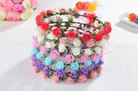 Wholesale 2016 new Sen female flowers garland headband headdress simulation Korean bride wedding photo studio seaside resort with jewelry flower
