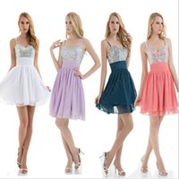 Cheap Plus Size Short Prom Dresses For Special Occasions Under $50 2015 Custom Made Evening Gowns White, Coral,Hunter,Lavender