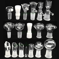 Wholesale Male and Female smoking accessory mm mm glass bowl for gongs Assorted Glass Bowl With Handle Water Smoking Pipe Accessory Supply bong