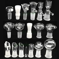 water slide - Male and Female smoking accessory bowl piece for gongs mm mm glass water pipes Assorted Bowl slide With Handle Water Smoking Pipe bong