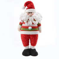 animated shoes - 2015 Animated Merry Christmas Dolls Santa Claus Black Shoes Christmas Decor New Year Decorations Ornament For Home