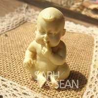 Cheap 3D M0442 Eat hand dolls standing baby soap mold fondant cake molds soap chocolate mould for the kitchen baking