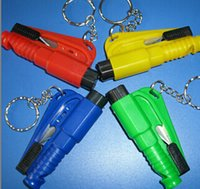 Wholesale New in broken Window escape tool car keychain chain life saving hammer escape device car safety hammer