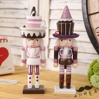 Wholesale 2Piece Cute CM Sweet Pink The Nutcracker Soldier Puppet Zakka Home Furnishing Ornaments Kids Gift
