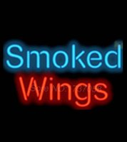 barbeque lights - Smoked Wings Barbecue Barbeque Neon Light Sign Display Club Signage Nikke Air Jorrdan Neon Sign Real Glass Tube Handicraft