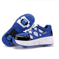 cotton fabric roll - 2015 new junior children heelys roll children s shoes Boy Girls roller double wheel shoes sport shoes baby child