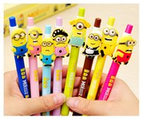 Wholesale Lovely Cute Cartoon Stationery Pens Yellow Cartoon Image Gel Pens for syudent Styles Free DHL High Quality