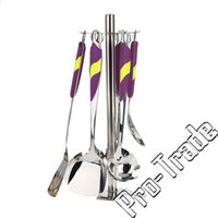 Wholesale High Quality Kitchen Accessories Stainless Steel Kitchenware Suit Cookware Cooking Tools Set Shovel Spoon Utensils set