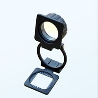 Wholesale 20x Hand held fold x magnifying glass view the thread count Fabric jeweler loupe diameter mm glass magnifying