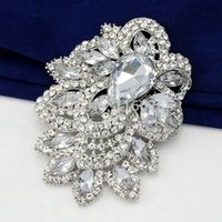 Wholesale Star Jewelry Huge Size Elegant Clear Rhinestone Crystal Diamante Large Gift Bridal Brooch For Wedding Party