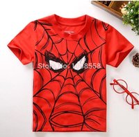 Cheap Hot Sale Cheap 2015 Children short sleeve t-shirts Kids Clothing Tees,Cool Spiderman Boys T Shirts,Children Outwear Baby T-shirt MYF232