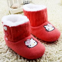 age boots - Baby Children Cotton Boots For Winter Hot Arrival Cartoon Girls First Walker Shoes Baby Velvet Shoes Fit Age SS848