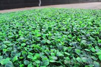 Wholesale 25CM CM Artificial Grass plastic boxwood mat topiary tree Milan Grass for garden home wedding decoration Artificial Plants