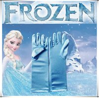 Wholesale lowest frozen queen elsa gloves Elsa Cosplay Costume Snow Queen Anime gloves coronationfor halloween Christmas party Free DHL
