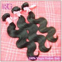 cuticle remy hair - Top Quality A Premium Brazilian Virgin Hair Body wave Unprocessed Hair RG Hair Full Cuticle Virgin Remy Hair