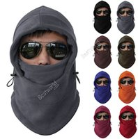 balaclavas face mask - Hot Sales Fleece Thermal Balaclava Ski Snowboard Motorbike Biker Gear Masks Face Hood Hats Cycling Caps Fx245