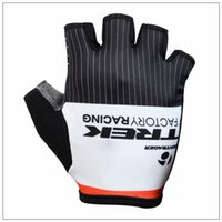 trek bike - TREK Latest cycling gloves black white summer outdoor racing gloves anti skidMTB and road bike half finger cycling gloves size S M L XL