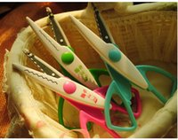 Wholesale DIY Paper Cutting Scissors Plastic Children Safety Scissors Photo Album Craft Scissors Promotion Gift
