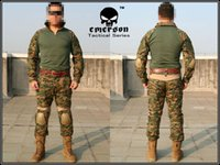 Cheap Combat uniform Military uniform Emerson BDU Gen2 Combat Shirt & Pants & Pads WOODLAND MARPAT EM6913