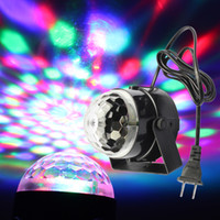 Wholesale SZMYLED W Colorful RGB Stage LED Crystal Light DJ Disco KTV Xmas Party Wedding Show Club Pub Lamp Voice activated Rotating