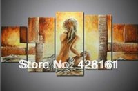 abstract body painting - 2m Large hand painted oil wall art naked nude girl body women home decoration abstracte oil painting on canvas