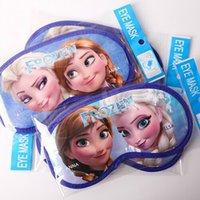 Wholesale 10pcs set Frozen Sleeping Eye Mask Girls Princess Elsa Anna Eye Patch cm