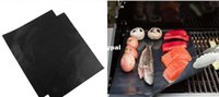 Wholesale BBQ grill mat l sheet cooking and baking and microwave oven use black PFOAccc1