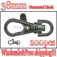 Cheap Hot Sale 200pcs Gunmetal black Metal Snap Hook Swivel Lobster Clasp