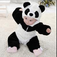 Wholesale 2016 Baby Children Pyjamas Panda Cartoon Animal Cosplay Costume Boys Girls Pajama Kids pajamas Winter Sleepwear Halloween