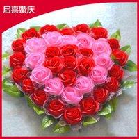Wholesale Wedding supplies high imitation flower car decoration decorative flower flower heart shaped head