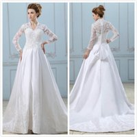 A-Line stussy - 2014 long Sleeves Lace Wedding Dresses Vestido de Novia Stussy Casamento Bridal Gowns Robe de Marriage w236
