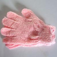 bathe bathroom products - Exfoliating home Bath Glove Five fingers Bath Gloves bathroom accessories nylon bath gloves Bathing supplies bath products