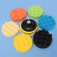 Wholesale 8pcs Sponge Polishing waxing Buffing Pads Kit Compound Polishing Auto Car Dril